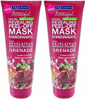 Freeman Feeling Beautiful Facial Revealing Peel-Off Mask Pomegranate, 6 oz - Set of 2