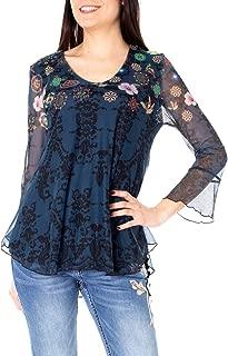 Luxury Fashion | Desigual Womens 19SWTK82BLUE Blue Blouse | Spring-Summer 19