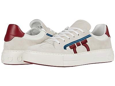 Salvatore Ferragamo Borg 12 Sneaker (Pearl/Red/White) Men