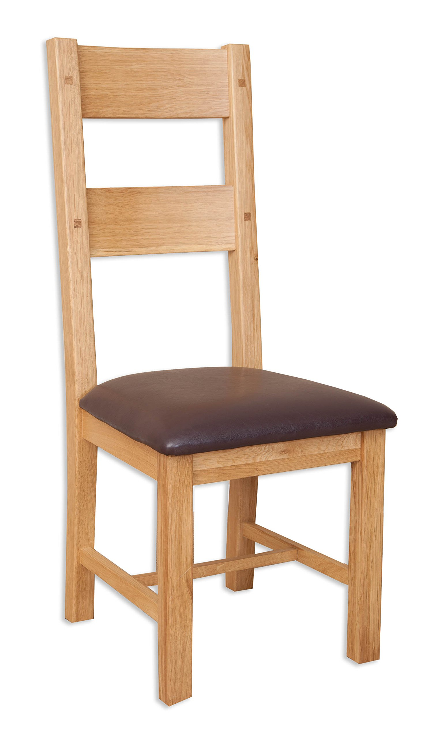 Melbourne Natural Oak Dining Chair/Solid Natural Oak Padded Dining