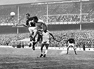 World Cup 1966 Nkalman Meszoly Of Hungary And Hilderaldo Bellini Of Brazil Head The Ball During The 1966 World Cup Held In England Photograph 15 July 1966 Poster Print by (18 x 24)
