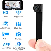 Spy Hidden Camera, Wireless Wi-Fi Camera 1080P APP Mini Portable Covert Security Cam Motion Detection for iOS/Android Mobile Phone (2019 Version) (Mini)