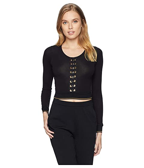 ELSE Urban Lace-Up Long Sleeved Cropped Top