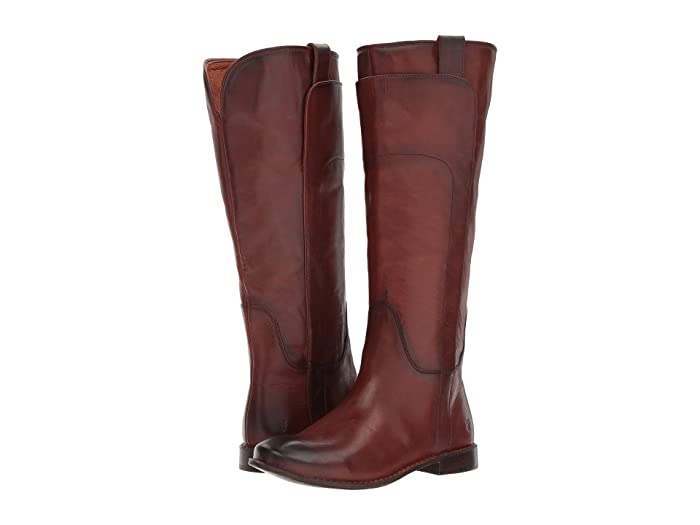 Frye Paige Tall Riding (Redwood Smooth Vintage Leather) Women's Pull-on Boots