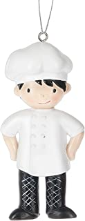 Boy Gourmet Cook Chef Master Resin Stone Christmas Ornament Figurine by Midwest-CBK