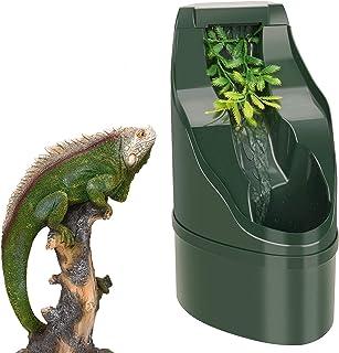 DFFng Dispensador de Agua para Reptiles, Cuenco con gotero de Agua Potable para Reptiles, Fuente de Agua Grande no tóxica,...