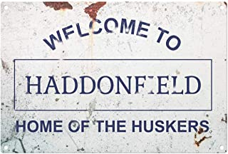 Dark Branches Personalized Halloween Welcome to Haddonfield Metal Sign, Home of The Huskers Funny Sign, Style Metal Sign Tin 8