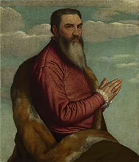 The Polyster Canvas Of Oil Painting 'Moretto Da Brescia Praying Man With A Long Beard ' ,size: 18 X 21 Inch / 46 X 53 Cm ,this Reproductions Art Decorative Canvas Prints Is Fit For Game Room Decoration And Home Gallery Art And Gifts