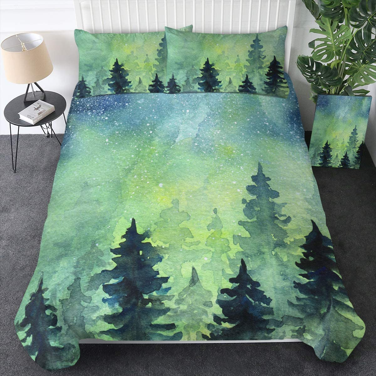 Sales of SALE items from new Popularity works Sleepwish Frost Space Duvet Cover G Watercolor Bedding Tree Pine