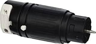 Hubbell CS8264C Locking Connector, 50 amp, 250V, 2 Pole and 3 Wire