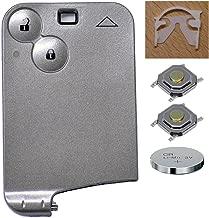 Auto Llave Mando a distancia 1x llaves-tarjeta Carcasa 2Botones + 1x CR1620batería + 2x mikrotaster para Renault
