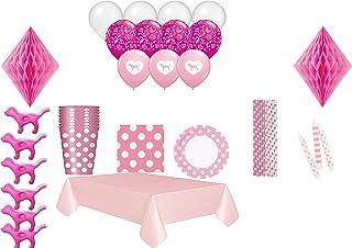 Victorias Secret - Juego de 16 decoraciones para fiestas, color rosa