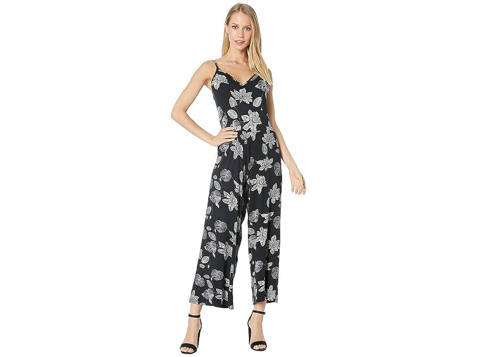 Roxy Summer Girls Knit Jumpsuit (Anthracite Flower of Love) Women