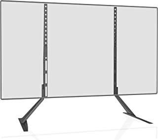 WALI Universal TV Stand Table Top for Most 22 to 65 inch LED LCD Flat Screen TV, VESA up to 800 by 400mm with Tilt Height Adjustment (TVS003), Black