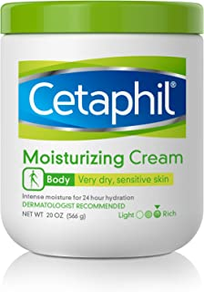 Cetaphil Moisturizing Cream | 20 Oz | Hydrating Moisturizer For Dry To Very Dry, Sensitive Skin | Body Cream Completely Restores Skin Barrier | Fragrance Free | Non-Greasy | Dermatologist Recommended