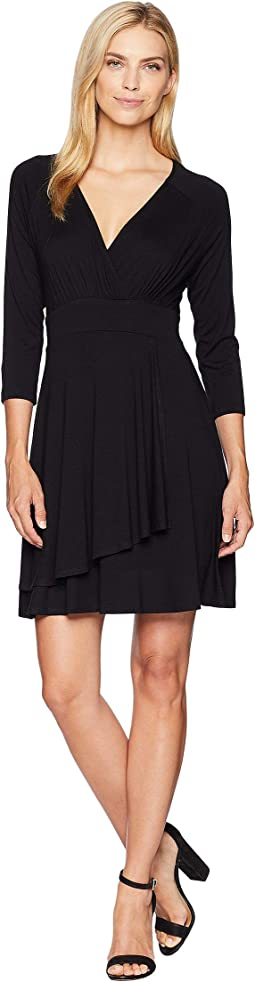 Faux Wrap Drape Dress