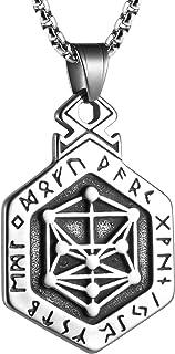 HZMAN الرجال الفولاذ المقاوم للصدأ رمز الكيميائي قلادة سلسلة