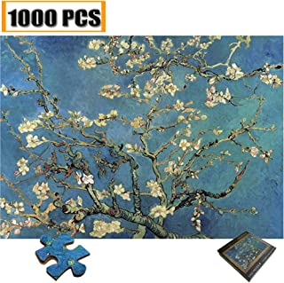 Jigsaw Puzzles 1000 Pieces Vincent Van Gogh Artwork Art for Teen Adult Grown Up Puzzles Large Size Toy Educational Games Gift Jigsaw Puzzle Jigsaw Puzzle 1000 PCS (Apricot flower Monet)