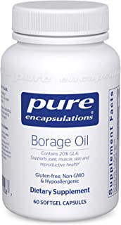 Pure Encapsulations - Borage Oil - Hypoallergenic Dietary Supplement - 60 Softgel Capsules