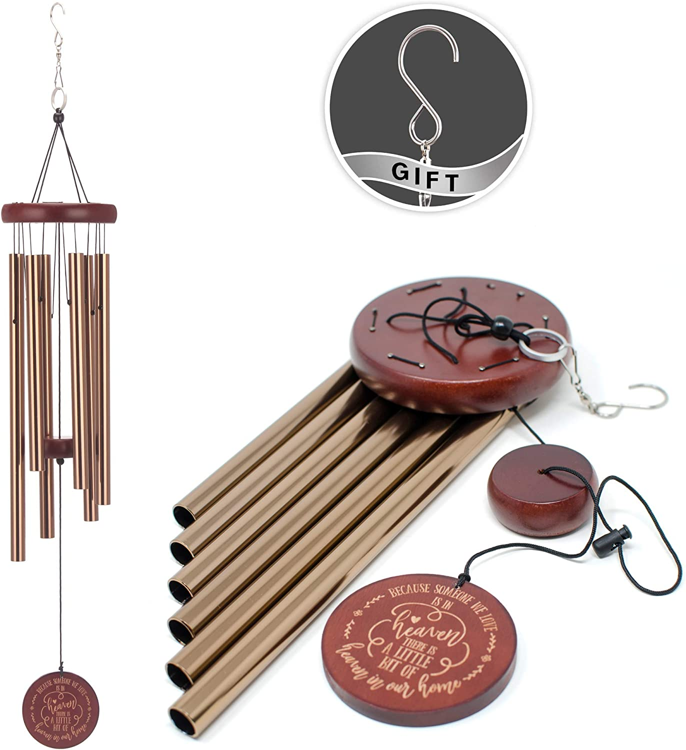 COOME Memorial Wind Chimes Outdoor Beauty products Large Sympa Inch 30 Tone Selling rankings Deep