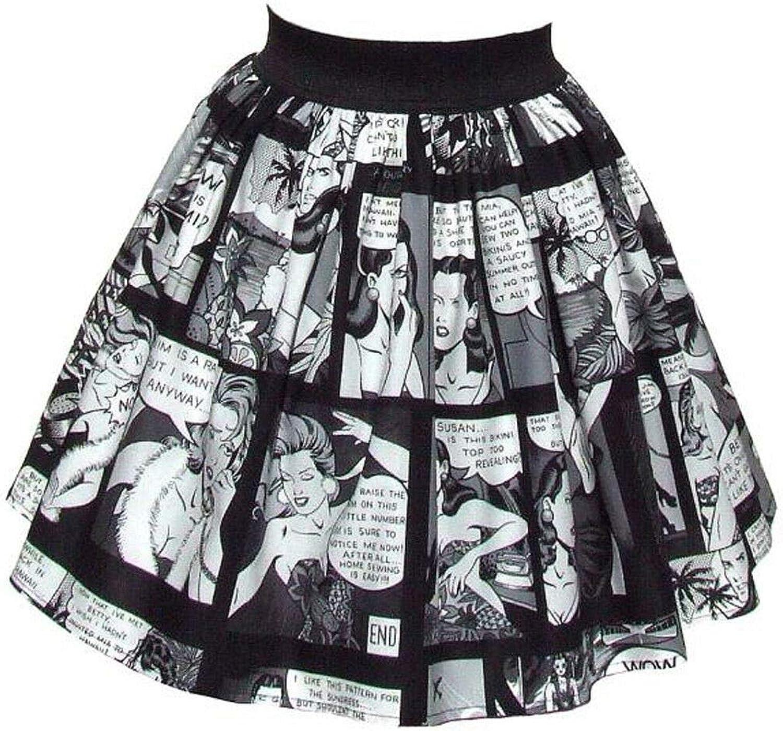 Hemet Women's Pinup Comic Strip Skirt
