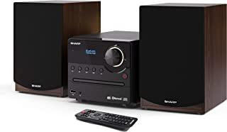 SHARP XL-B517D(BR) Microchain Sound System Stereo with DAB Radio, DAB+, FM, Bluetooth, CD-MP3, USB Playback, Wooden Speake...