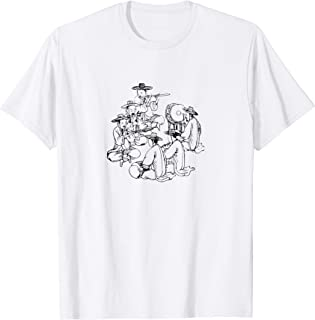 Korean Music Band Traditional Painting Funny Gag T-Shirt