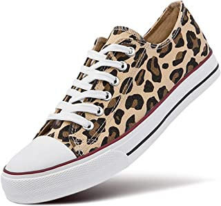 Women's Canvas Low Top Sneaker Lace-up Classic Casual Shoes Black and White