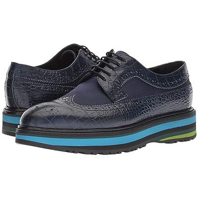 Paul Smith Grand Stripe Sneaker (Dark Navy Crocodile Print) Women