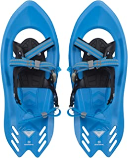 Winterial Pika Kids Snowshoes 18 inch Lightweight Aluminum Flat Terrain Snow Shoes