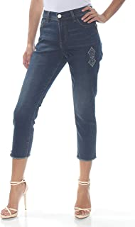 Lee Womens Bella Blue US Size 2 Embroiered Five Pocket Stretch Jeans