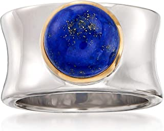 Ross-Simons Lapis Cabochon Ring in 14kt Yellow Gold and Sterling Silver