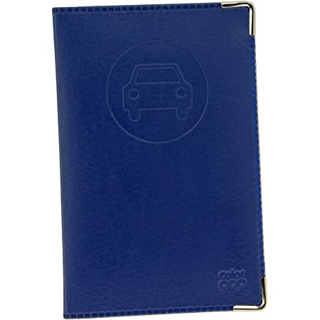 sans Sin Funda para Documentos de vehículos (550064), Completamente de Piel sintética – Azul Marino