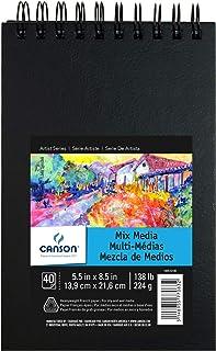 Sketchbook Para Aquarela Mix Media 224 g/m² 13,9 x 21,6 cm com 40 Folhas Canson