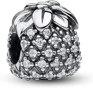Women Tropical Seahorse Dangle Charms Silver CZ Enamel Bead fit Pandora Bracelets
