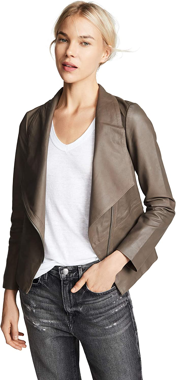BB Dakota by Steve Madden Women's Eastside Drape Fron Leather Jacket