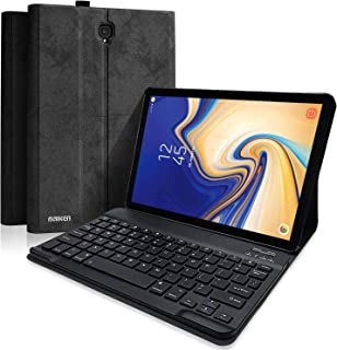 Keyboard Case for Samsung Galaxy Tab S4 10.5 inch SM-T830/T835/T837, Slim Lightweight Stand Cover with Magnetically Detachable Wireless Bluetooth Keyboard