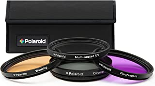 Polaroid Optics 40.5mm 4-Piece Filter Kit Set [UV,CPL, Warming,& FLD] includes Nylon Carry Case – Compatible w/ All Popula...
