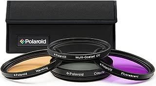 Polaroid Optics 52mm 4-Piece Filter Kit Set [UV,CPL, Warming,& FLD] includes Nylon Carry Case – Compatible w/ All Popular Camera Lens Models