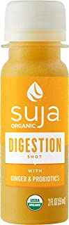 Suja Organic Cold-Pressed Digestion Shot with Ginger and Probiotics, 2 Fl Oz (Pack of 30)
