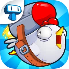 Eye-popping cartoon graphics Simple but skillful one button arcade game about the dream of flying Easy to control and addictive gameplay Coin rewards to buy awesome upgrades of cannons and equipment Funny chickens, because everybody loves chickens
