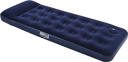 Bestway 67223 Matelas gonflable camping Pavillo™ 1 place 1.85m x 76cm x 22cm avec pompe à pied intégrée