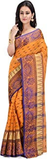 Raj Saree House Women's Traditional Pure Cotton Bengali Handloom Tant Saree - Without Blouse Piece(904)