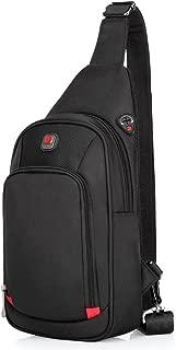 Sling Bag Crossbody Shoulder Bag Sling Backpack Chest Pack for Men Women Water Resistant Nylon Hiking Daypacks