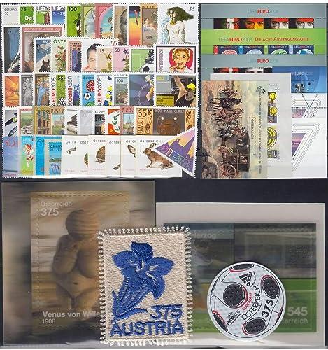 Goldhahn  erreich Jahrgang 2008 postfrisch  Nr. 2696-2786 Block 41-47 Briefürken für Sammler