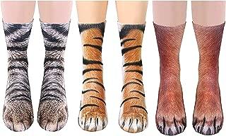 AOPOO Unisex Animal Paw Socks Novelty 3D Printed Mardi Gras Socks New Year Women Men Boys Girls