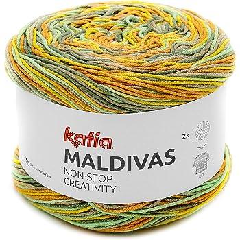 Katia Maldivas FB. Bobbel 83, Hilo de Mezcla de algodón, 150 g: Amazon.es: Hogar