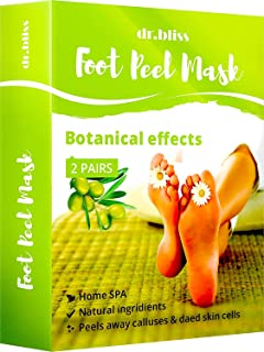 Exfoliating Sock Foot Mask - Peel Cuticle Remover - Foot Mask for Peeling Away Calluses and Dead Skin Cells - Get Silky Soft Feet Pedicure Kit (Green)