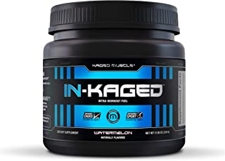Intra workout BCAA Powder, Kaged Muscle IN-KAGED Intra Workout Drink, Amino Energy Drink for Weights & Cardio; Intra Worko...