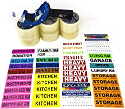 Tag-A-Room Pack N Move, Packing Tape, Tape Gun, Moving Labels Bundle, Moving Supplies Pnm-800